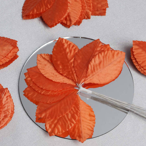 144 Burning Passion Leafs for Craft - Orange