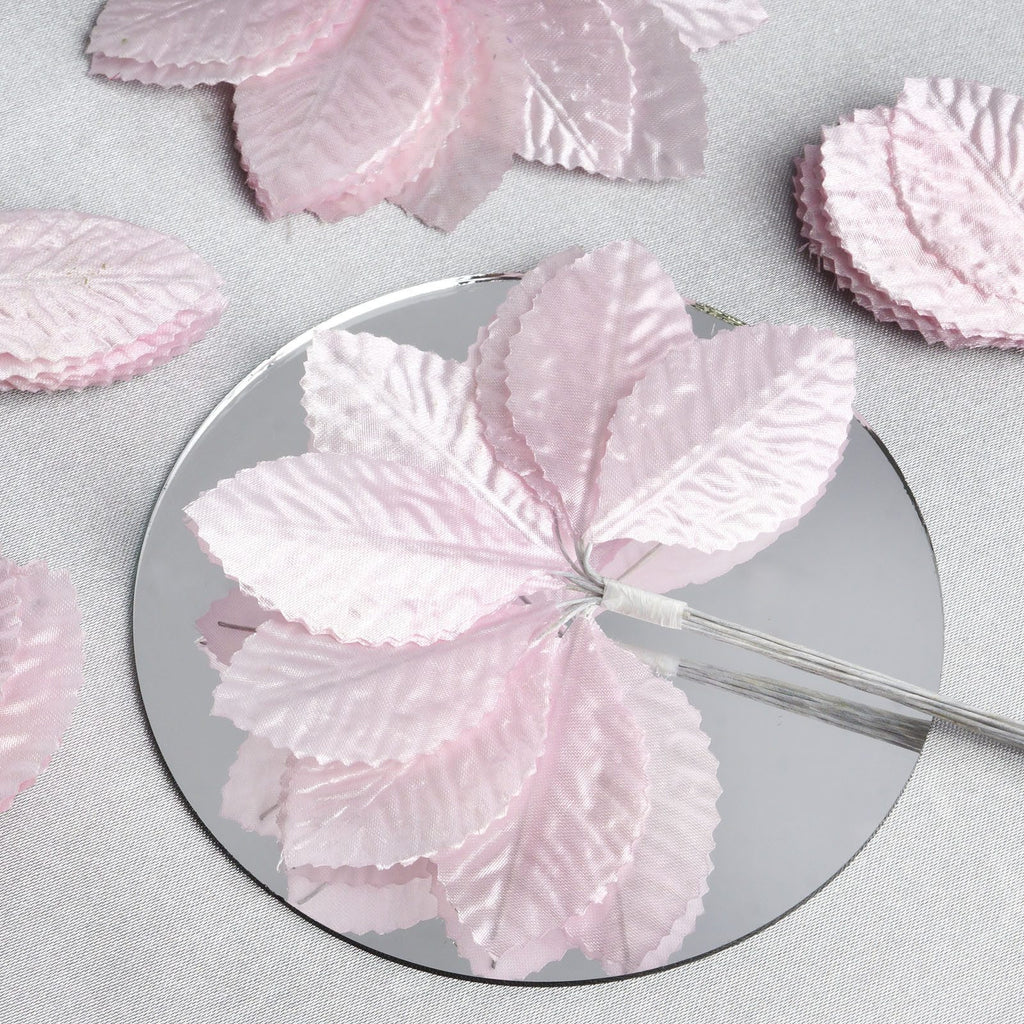 144 Burning Passion Leafs for Craft - Pink