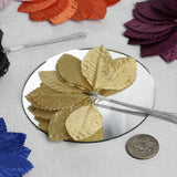 144 Burning Passion Leafs for Craft - Silver