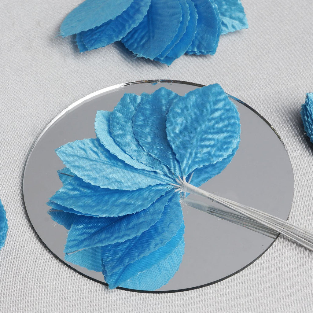 144 Burning Passion Leafs for Craft - Turquoise
