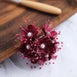 Faux Pearl Decor Flower Braids Corsage Boutineer Craft - Burgundy - 72|Pack