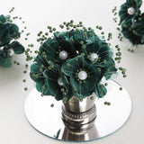 Faux Pearl Decor Flower Braids Corsage Boutineer Craft - Hunter - 72|Pack