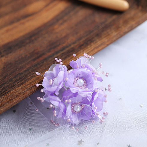 72 Pack Faux Pearl Decor Lavender Craft Flowers
