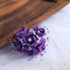Faux Pearl Decor Flower Braids Corsage Boutineer Craft - Purple - 72|Pack