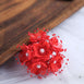 Faux Pearl Decor Flower Braids Corsage Boutineer Craft - Red - 72|Pack
