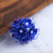 Faux Pearl Decor Flower Braids Corsage Boutineer Craft - Royal - 72|Pack