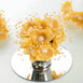 Faux Pearl Decor Flower Braids Corsage Boutineer Craft - Yellow - 72|Pack