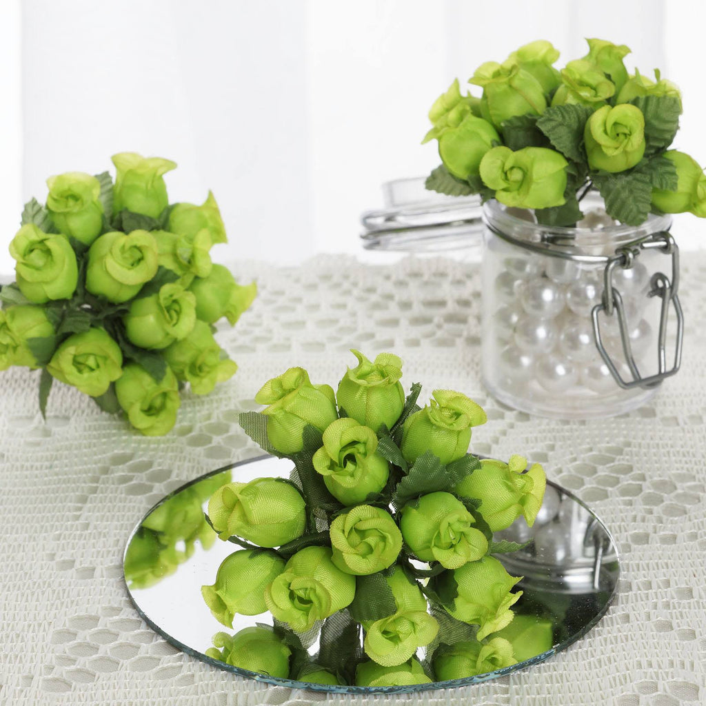 144 Apple Green Poly Rose Buds Wedding Bouquet Flowers Decoration
