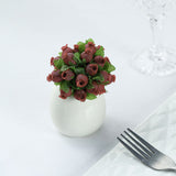 144 Burgundy Poly Rose Buds Wedding Bouquet Flowers Decoration