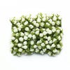 144 Pcs Ivory Wired Rose Flowers For Bridal Bouquet Craft Embellishment