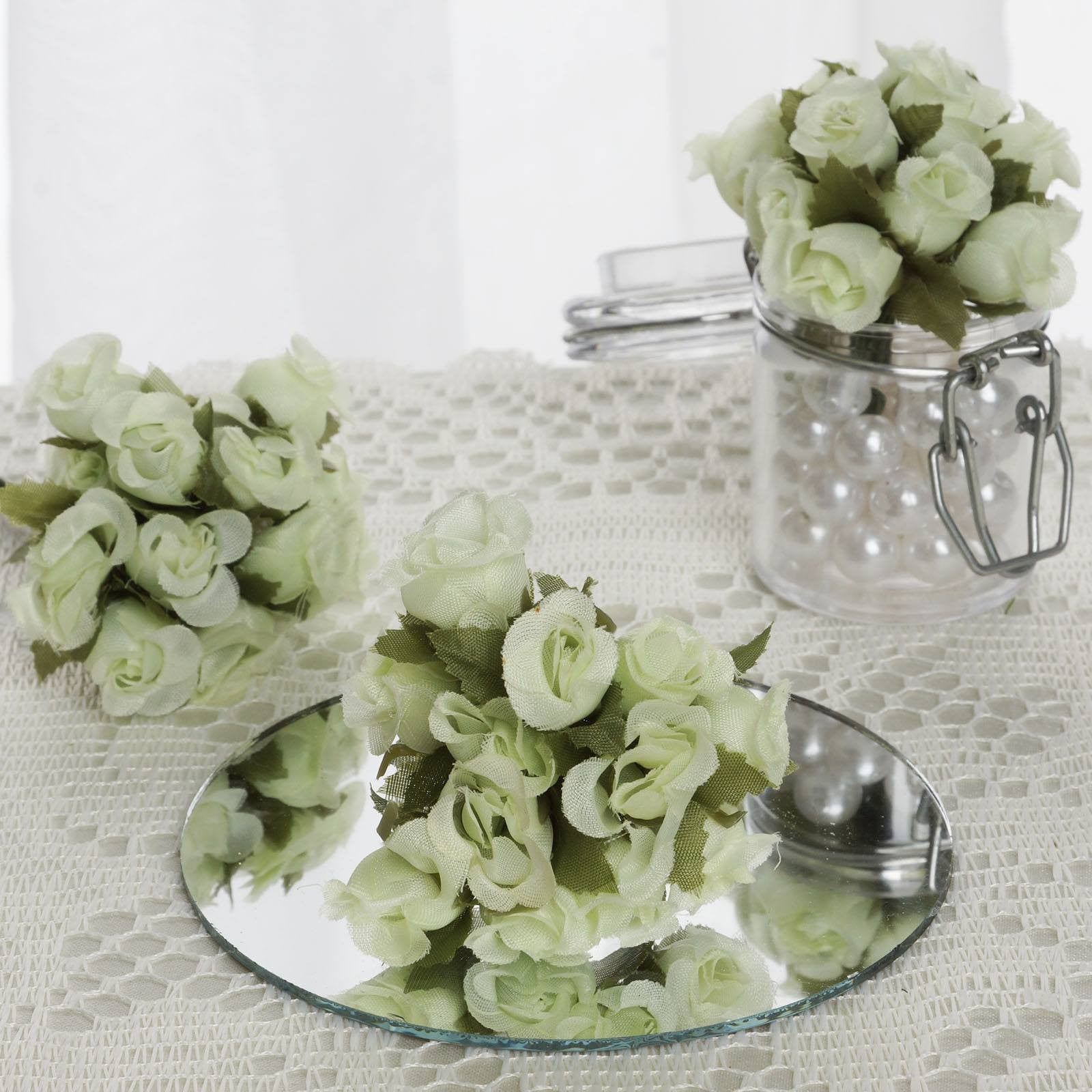 Pin By Summah Mo On Wedding Ideas Non Decor: 144 Poly Rose Buds Bouquet Flowers - Mint