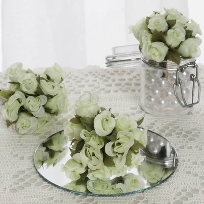 144 Mint Poly Rose Buds