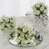 144 Mint Poly Rose Buds Wedding Bouquet Flowers Decoration