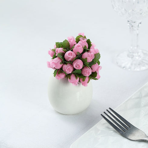 144 Pink Poly Rose Buds Wedding Bouquet Flowers Decoration