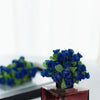 144 Pcs Royal Blue Wired Rose Flowers For Bridal Bouquet Craft Embellishment#whtbkgd