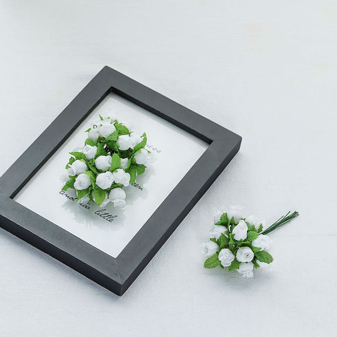 144 White Poly Rose Buds