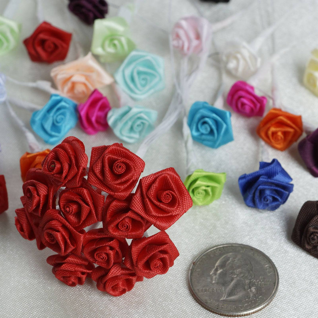 144 PCS Boutonniere Burgundy Rosebud Flower Applique DIY Brooch