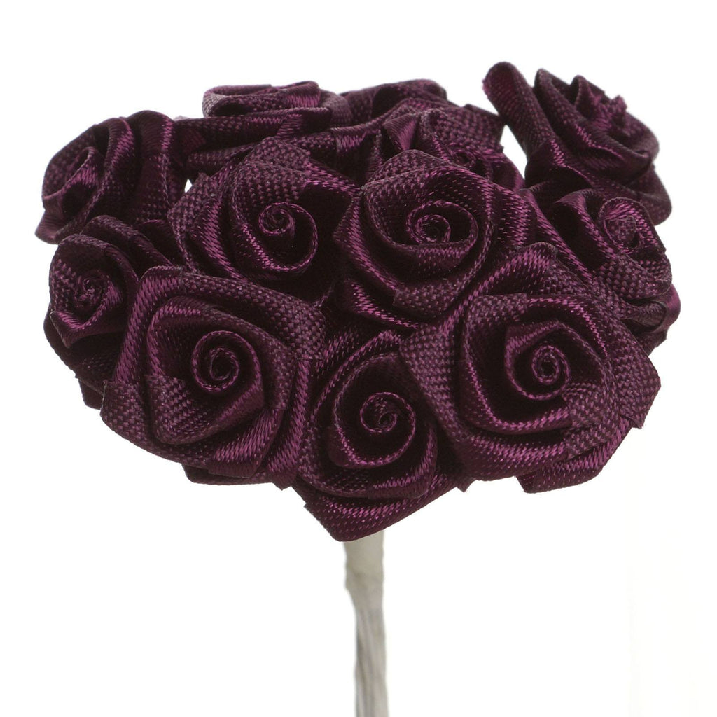 144 PCS Boutonniere Eggplant Rosebud Flower Applique DIY Brooch( Sold Out )