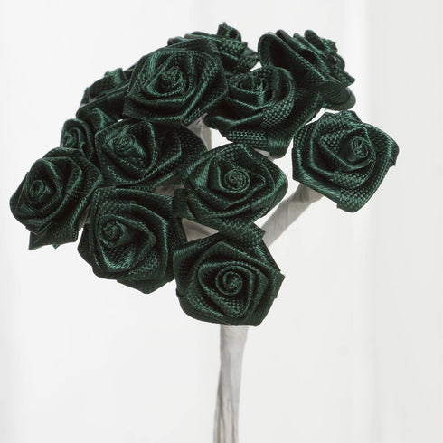 Boutonniere Hunter Rosebud - Hunter Green - 144pcs