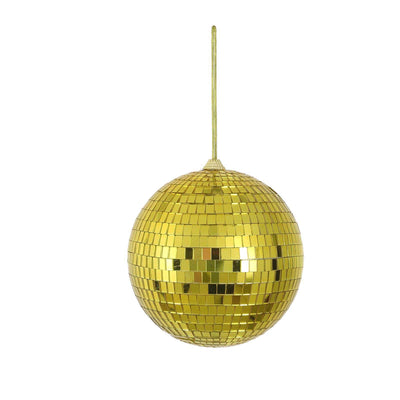 "4 Pcs 6"" Gold Glass Mirror Disco Balls 