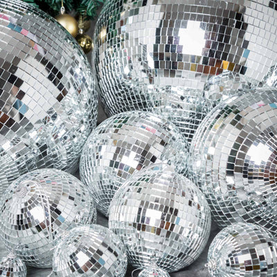 "2 Pcs 12"" Groovy Glass Mirror Disco Ball"