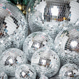 "16"" Groovy Glass Mirror Disco Ball Party Decoration"