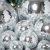 "4 Pcs 4"" Groovy Glass Mirrored Disco Ball"