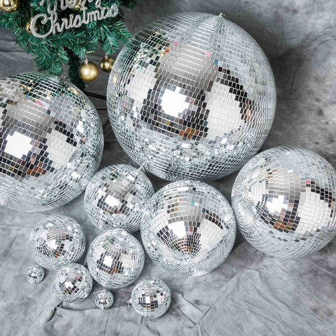 "4 PCS 6"" Groovy Glass Mirror Disco Balls"