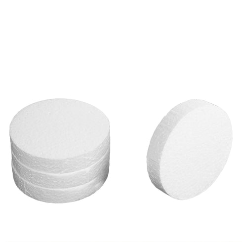 "36 Pack | 4"" White Styrofoam Foam Disc"