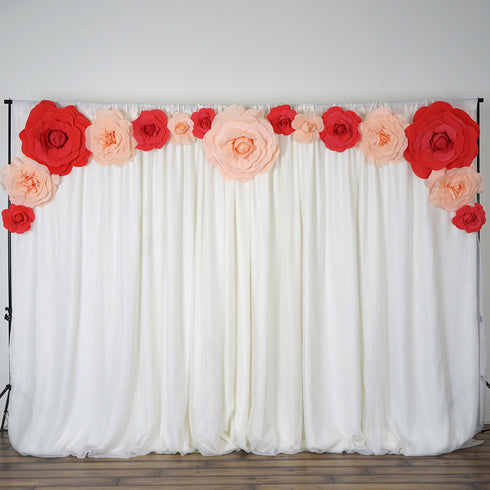 "4 Pack 12"" Large Red Real Touch Artificial Foam Backdrop Craft Roses"