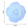 "4 Pack 12"" Large White Real Touch Artificial Foam Craft Roses"