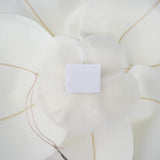 "4 Pack 16"" Large White Real Touch Artificial Foam Backdrop Craft Roses"