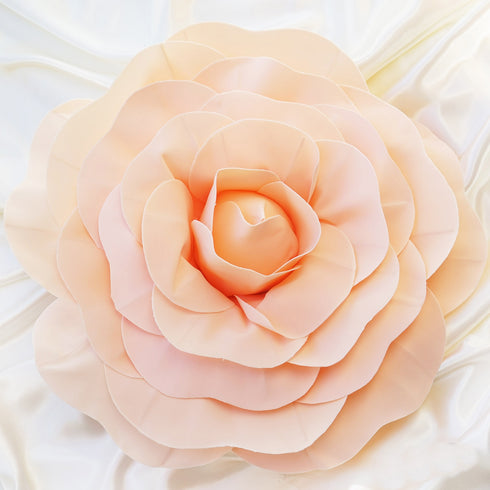 "2 Pack 20"" Large Real Touch Artificial Foam Craft Roses- Rose Gold 
