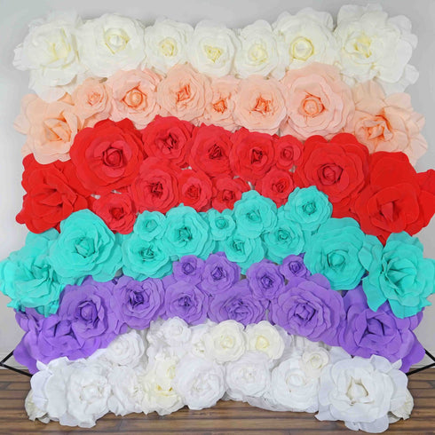 "2 Pack 20"" Large Lavender Real Touch Artificial Foam Backdrop Craft Roses"