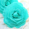 "2 Pack 20"" Large Turquoise Real Touch Artificial Foam Backdrop Craft Roses"