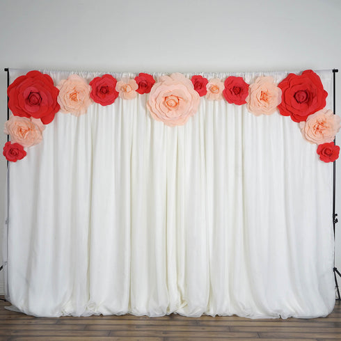 "2 Pack 24"" Large Blush Real Touch Artificial Foam Backdrop Craft Roses"