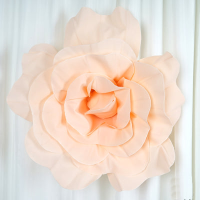 "2 Pack 24"" Large Blush Real Touch Artificial Foam Craft Roses"