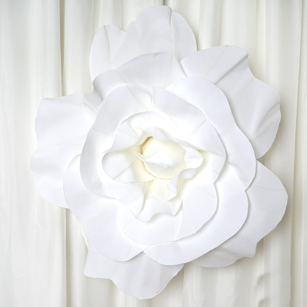 "2 Pack 24"" Large White Real Touch Artificial Foam Craft Roses"