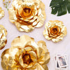 "2 Pack 24"" Large Metallic  Gold Real Touch Artificial Foam Craft Roses"