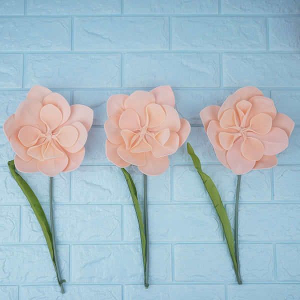 6 Pack 8 Quot Real Feel Foam Daisy Flowers Rose Gold Blush