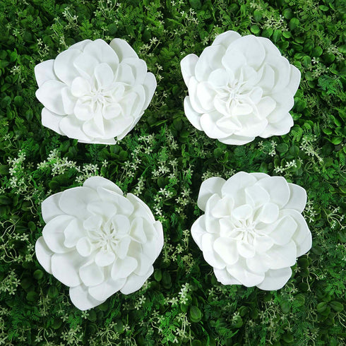 "4 Pack 12"" Whie Real Feel Foam Daisy Flowers"