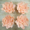 "4 Pack 16"" Real Feel Foam Daisy Flowers - Rose Gold 