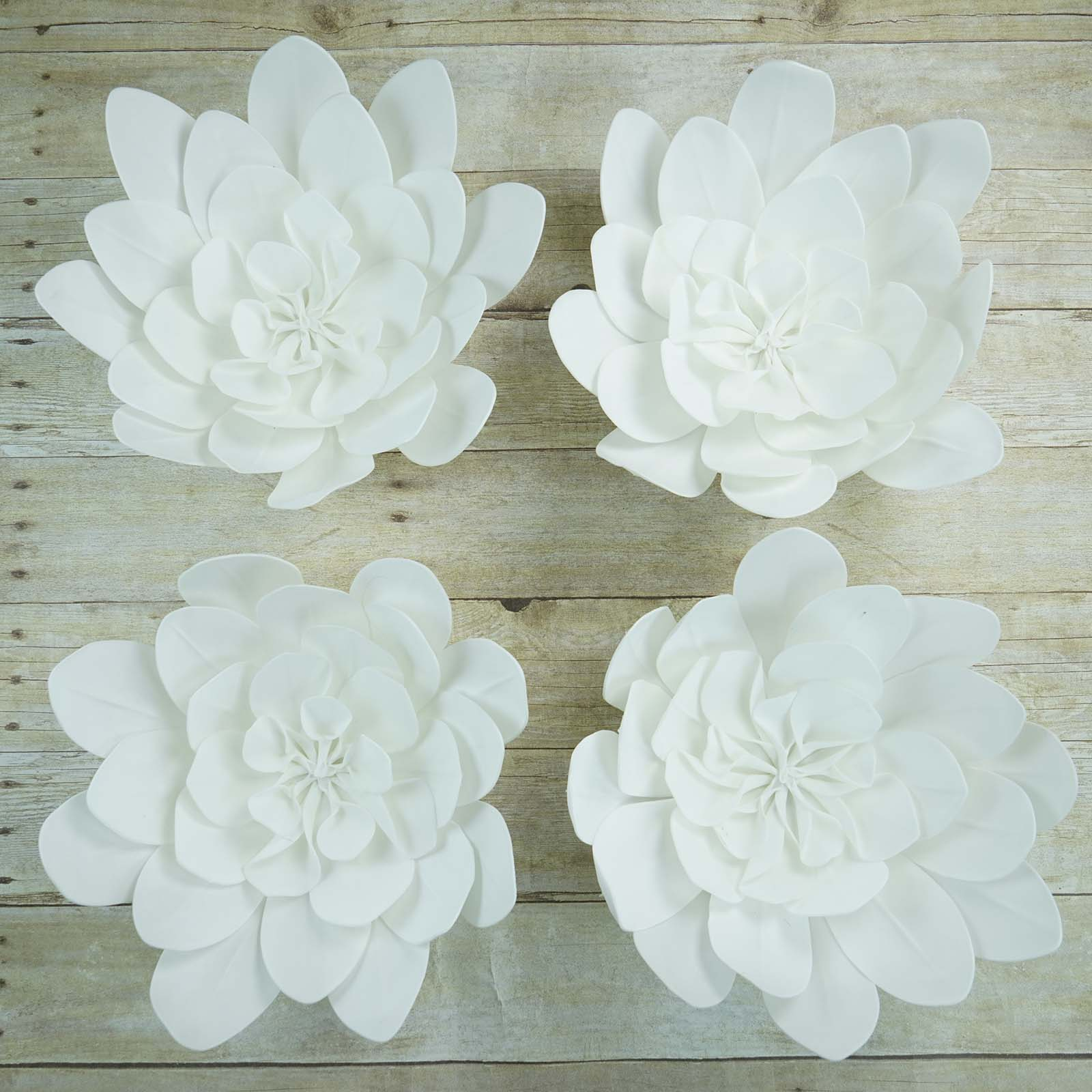 4 Pack 16 Quot White Real Feel Foam Daisy Flowers Efavormart