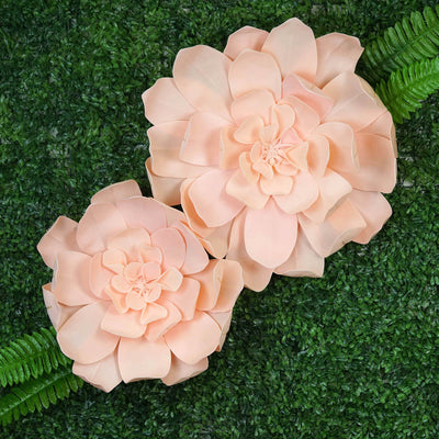 "2 Pack 24"" Real Feel Foam Daisy Flowers - Rose Gold 