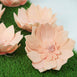 "6 Pack 8"" Real Feel Foam Dahlia Flowers - Rose Gold 
