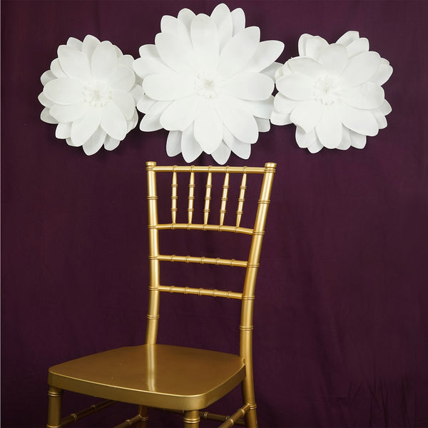 "2 Pack 20"" White Real Feel Foam Dahlia Flowers"