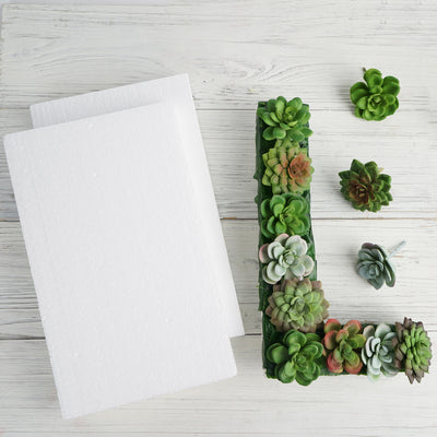 "7""x12"" White Styrofoam Foam Rectangle Flats - 12pcs"