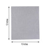 "10 Pack - 12""x10"" Self-Adhesive Glitter DIY Craft Foam Sheets - Silver"