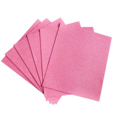 "10 PCS Wholesale Glittered Metallic Foam Craft Art Sheets Fofuchas - Pink - 9.5""x12"""