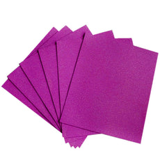 "10 PCS Wholesale Glittered Metallic Foam Craft Art Sheets Fofuchas - Purple - 9.5""x12"""